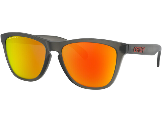 Oakley Frogskins Gafas de sol, matte grey/smoke prizm/ruby polarized